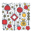 oriental culture chinese new year symbols luck vector image vector image