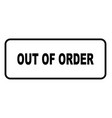 out of order vector image vector image