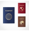 passport set Flat Design vector image