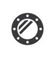porthole icon vector image vector image