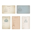 Postcard grunge vintage card collection vector image