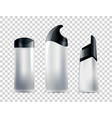 realistic blank cosmetic tubes set unbranded vector image vector image