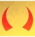 Red Horns Icon vector image vector image