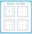 repeat pattern working pages for kids worksheet vector image vector image