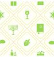 seamless pattern with hanukkah symbol vector image vector image