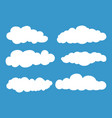 set cloud isolated on blue background vector image