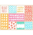 Set of creative cards with blots and scribbles vector image vector image