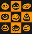 Set of halloween pumpkins icons