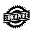 singapore rubber stamp vector image
