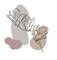sketch spring flowers magnolia 1 vector image vector image