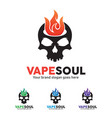 Skull fire logo for e-cigarette business vector image