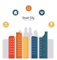 Smart city design Social media icon Technology vector image vector image