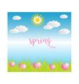 spring season on blue background vector image