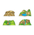 sri lanka nature landmarks landscape travel icons vector image