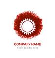 Sun icon - red watercolor circle splash