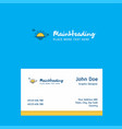 sunset logo design with business card template vector image