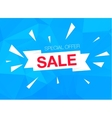 Super Sale Special Offer banner on blue background vector image