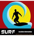 surfer background vector image vector image