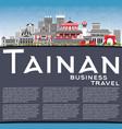 tainan taiwan city skyline with gray buildings vector image vector image