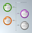 Timeline info graphic round template vector image vector image