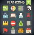 Universal Flat Icons Set for applications 21 vector image vector image