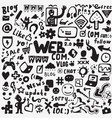 web doodles design elements vector image vector image