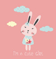 with cute rabbit vector image vector image