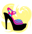 Woman Shoe vector image