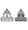 yacht boat trip line and glyph icon journey and vector image vector image