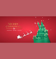 year paper cut pine tree winter city vector image vector image