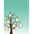Vintage Picture frames tree vector image
