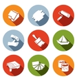 Painting work icon set vector image