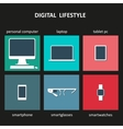 Digital devices icons vector image