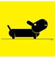 - stylized black dog vector image