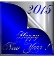2015 new year greeting with curled corner vector image vector image