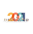 2021 new year with new normal lifestyle ideas vector image