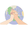 A gesture of peace vector image vector image