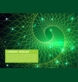 abstract colorful background with green spiral vector image vector image