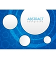 Abstract molecules medical background vector image vector image
