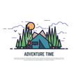 adventure time camping vector image vector image