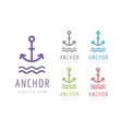 Anchor logo icon Sea vintage or sailor vector image vector image