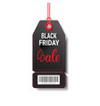 black friday sale shopping tag with bar code vector image vector image