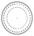 blank protractor Actual Size Graduation vector image vector image