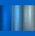 blue technology metal background vector image vector image