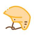 boat helmet canoeing icon vector image