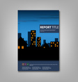 Brochure book with night lighted city template vector image vector image