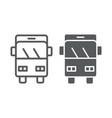bus trip line and glyph icon transport and vector image vector image