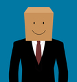 Cardboad businessman with a smile face vector image vector image