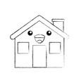 cartoon cabin house chimney comic vector image vector image
