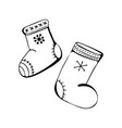 christmas and new year winter icons boots winter vector image vector image